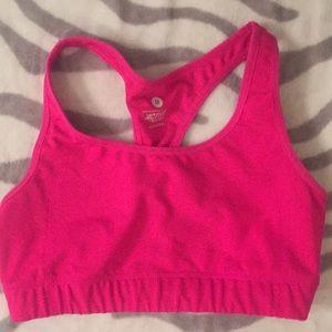 Old navy pink sports bra medium